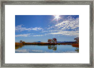 Morning At The Lake Framed Print