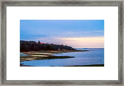 Morning At The Lake - Landscape Framed Print by Barry Jones