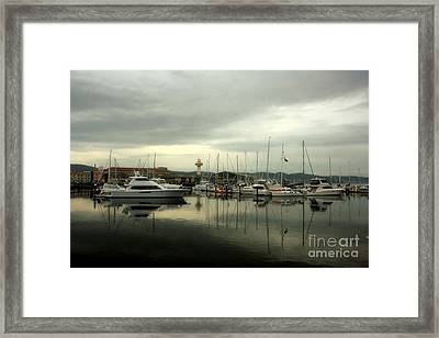 Morning At The Marina Framed Print