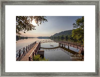 Framed Print featuring the photograph Morning At The Pier by Kari Yearous