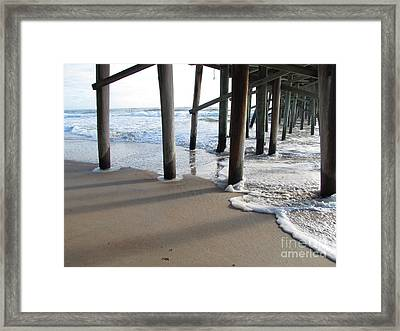 Morning At The Pier Framed Print by Michele Napier-Berg