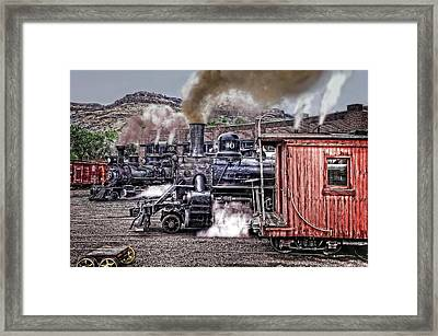 Morning At The Roundhouse Framed Print by Ken Smith