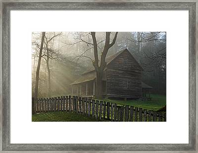 Morning At The Tipton Place Framed Print by Deb Campbell