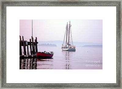 Morning At The Wharf Framed Print by Christopher Mace