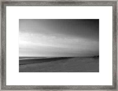 Framed Print featuring the photograph Morning At Tybee Island by Frank Bright