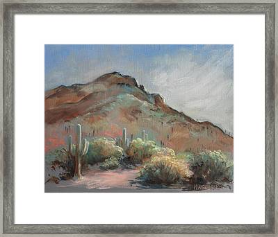 Morning At Usery Mountain Park Framed Print by Peggy Wrobleski