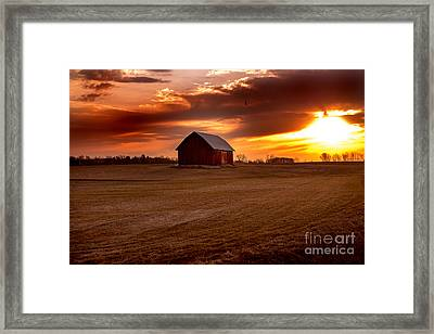Morning Barn Framed Print