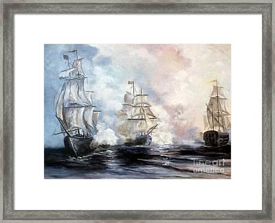 Morning Battle Framed Print by Lee Piper