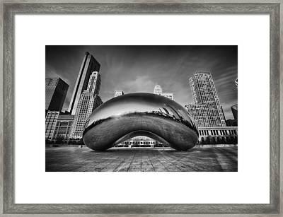 Morning Bean In Black And White Framed Print
