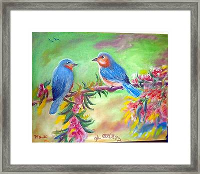 Morning Birds Framed Print by M Bhatt