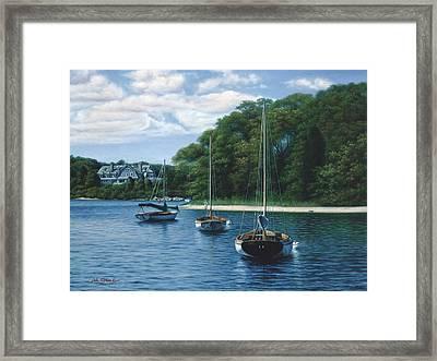 Morning Blue - Cape Cod Framed Print by Julia O'Malley-Keyes