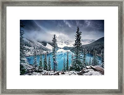 Morning Blues Framed Print