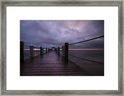 Morning Breaks Through Framed Print by Patsy Zedar
