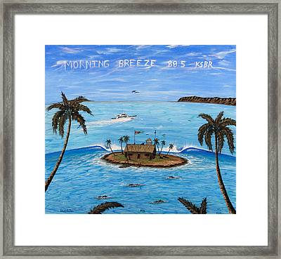 Morning Breeze Cruise Framed Print