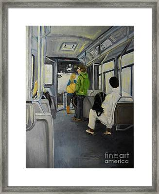 Morning Bus Framed Print by Reb Frost