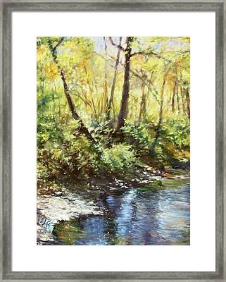 Morning By The River Framed Print