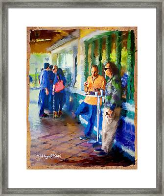 Morning Cafe Con Leche Break Framed Print by Ted Azriel