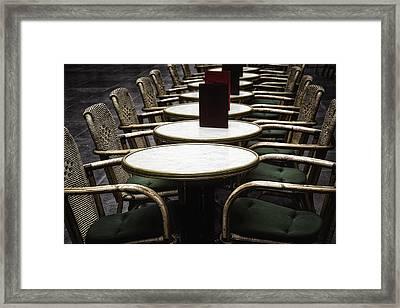 Morning Cafe Framed Print