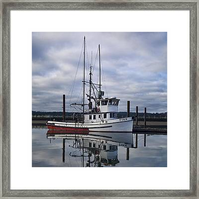 Morning Calm Newport Oregon Square Version Framed Print