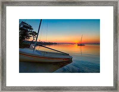 Framed Print featuring the photograph Morning Calm by Tim Stanley