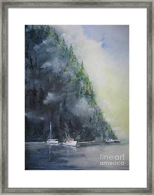 Morning Cast Off Framed Print