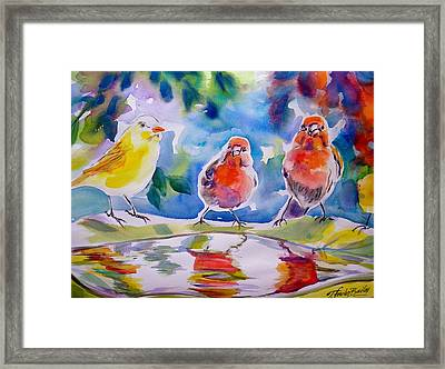 Morning Chat Framed Print by Therese Fowler-Bailey