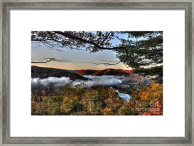 Framed Print featuring the photograph Morning Cheat River Valley by Dan Friend