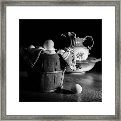 Morning Chores Framed Print by Jeff Burton