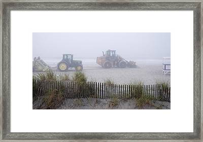Morning Cleanup Framed Print