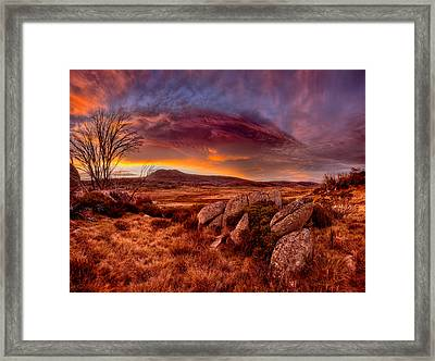 Morning Clouds Over Jugungal Framed Print by Robert Charity