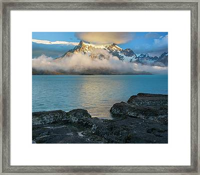 Morning Clouds Over Paine Grande Framed Print by Panoramic Images
