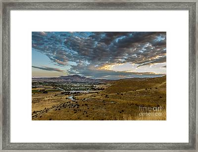 Morning Clouds Over The Valley Framed Print