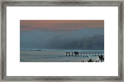 Morning Coastal Clouds Framed Print by Russ Harris