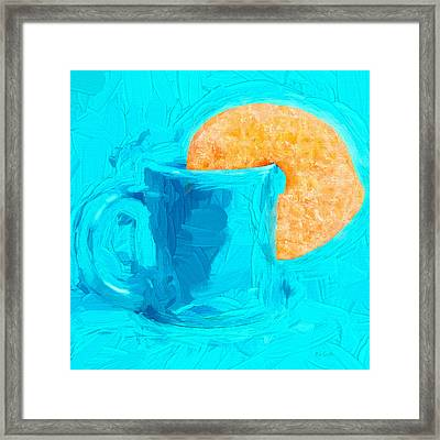 Morning Coffee And Donut Framed Print