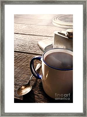 Morning Coffee At The Ranch  Framed Print by Olivier Le Queinec