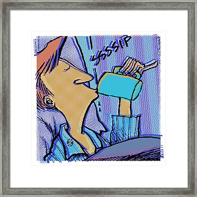Morning Coffee Daddy's Home Comics Framed Print