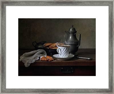 Morning Coffee  Framed Print by Helen Tatulyan