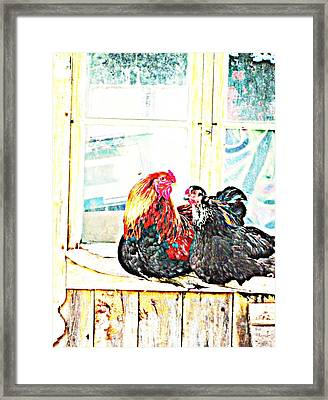 Like Morning Coffee With My Darling  Framed Print by Hilde Widerberg