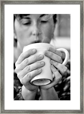 Morning Coffee Framed Print by Sally Nevin