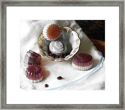 Morning Coffee Soap Framed Print by Anastasiya Malakhova