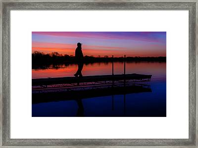Framed Print featuring the photograph Morning Color Forest Lake Mn by RC Pics