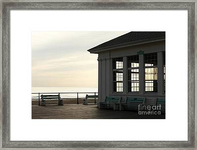 Morning Colors In Avon Framed Print by John Rizzuto