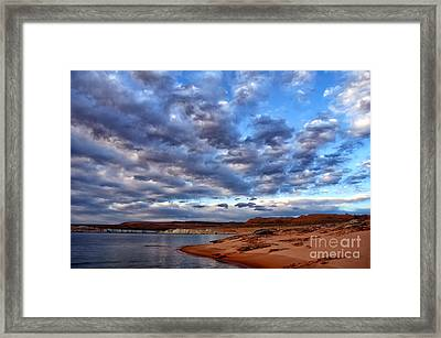 Morning Couds Framed Print