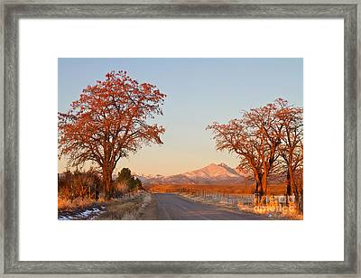 Morning Country Drive Longs Peak View Framed Print by James BO  Insogna