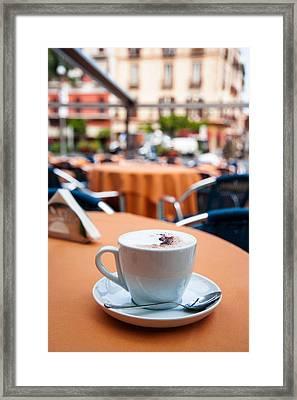 Morning Cup Of Coffee By Zina Zinchik Framed Print by Zina Zinchik