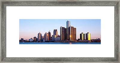 Morning, Detroit, Michigan, Usa Framed Print