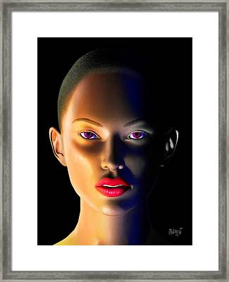 Framed Print featuring the digital art Morning Dew by Anthony Mwangi