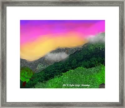 Morning Framed Print by Dr Loifer Vladimir