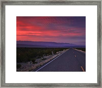 Morning Drive Framed Print