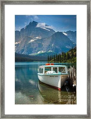 Morning Eagle Framed Print by Inge Johnsson